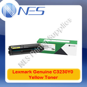 Lexmark Genuine C3230Y0 YELLOW Standard Yield Toner for MC3326adwe C3326dw Printer (1.5K Yield)